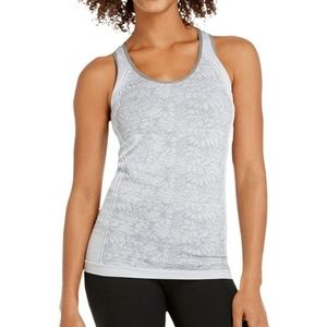 Fabletics Gray Oula Floral Athletic Tank Top